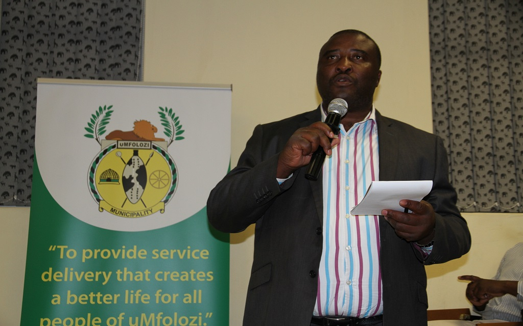 Mayor, Cllr SW Mgenge at the presentation of the Intergated Development Plan (IDP) and Budget for the 2015-16 financial year.