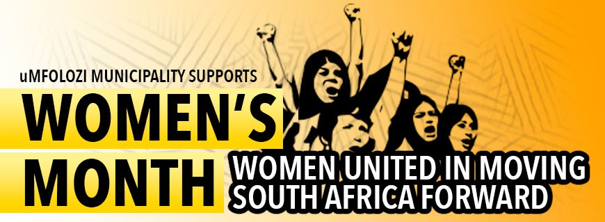 Women's month - website scrolling banner (uMfolozi Municipality)