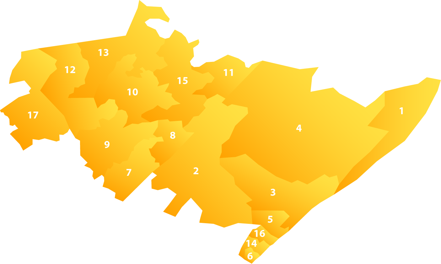 Ward map for uMfolozi